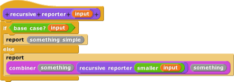 correct recursive reporter pattern with combiner