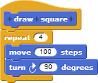 Script to draw a square